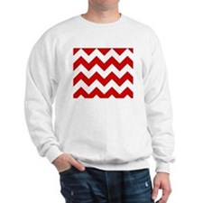 Red and White Chevron Pattern Sweater