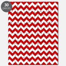 Red and White Chevron Pattern Puzzle