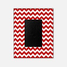 Red and White Chevron Pattern Picture Frame