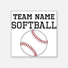 (Team Name) Softball Sticker