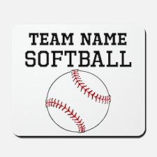 (Team Name) Softball Mousepad