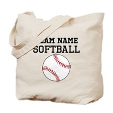 (Team Name) Softball Tote Bag