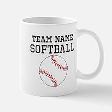 (Team Name) Softball Mugs