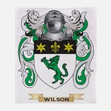 Wilson Family Crest (Coat of Arms) Throw Blanket