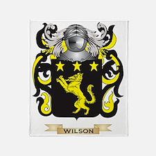 Wilson England Family Crest (Coat of Throw Blanket