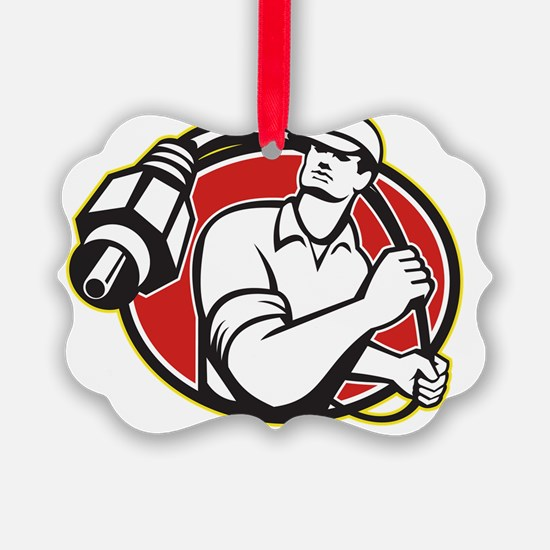 Cable TV Installer Guy Ornament