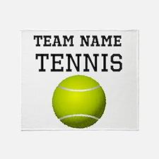 (Team Name) Tennis Throw Blanket