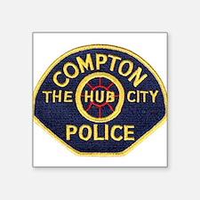 """Compton CA Police Square Sticker 3"""" x 3"""""""