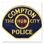 Compton CA Police Square Car Magnet 3