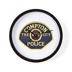 Compton CA Police Wall Clock