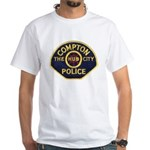 Compton CA Police White T-Shirt