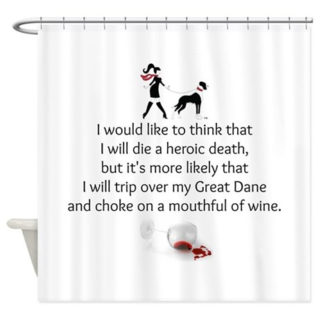 Wine Quote Shower Curtain By Thedanedame