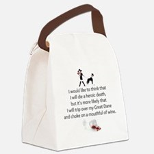 Wine Quote Canvas Lunch Bag