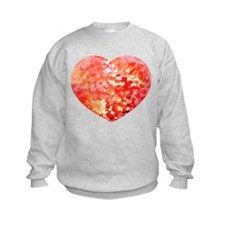 Pink Gold Confetti Hearts Sweatshirt