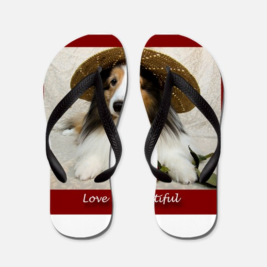 Love is Beautiful Flip Flops