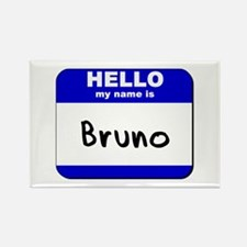 hello my name is bruno Rectangle Magnet