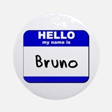 hello my name is bruno  Ornament (Round)
