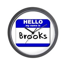 hello my name is brooks  Wall Clock