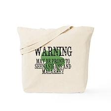 Shenanigans  Malarkey Tote Bag