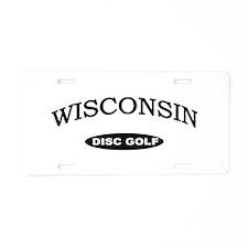 Wisconsin Disc Golf Aluminum License Plate