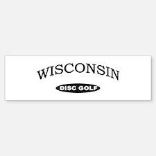 Wisconsin Disc Golf Bumper Bumper Sticker