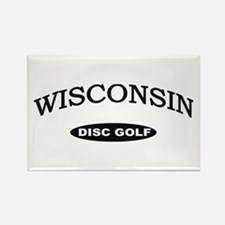 Wisconsin Disc Golf Rectangle Magnet