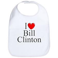 """""""I Love (Heart) Bill Clinton"""" Bib"""