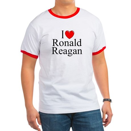 """I Love (Heart) Ronald Reagan"" Ringer T"