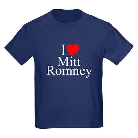 """I Love (Heart) Mitt Romney"" Kids Dark T-Shirt"