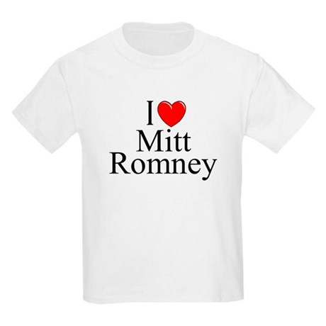 """I Love (Heart) Mitt Romney"" Kids Light T-Shirt"