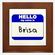 hello my name is brisa  Framed Tile