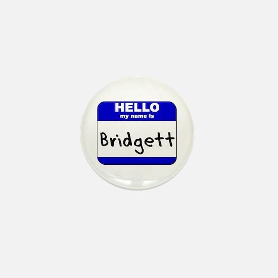 hello my name is bridgett Mini Button