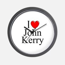 """""""I Love (Heart) John Kerry"""" Wall Clock"""