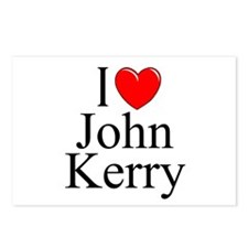 """""""I Love (Heart) John Kerry"""" Postcards (Package of"""