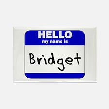 hello my name is bridget Rectangle Magnet