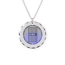 CORRECTIONAL NURSE BLUE Necklace