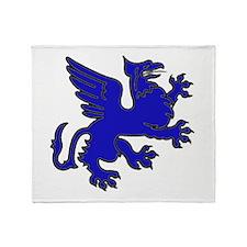 Blue Griffin Throw Blanket