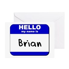 hello my name is brian  Greeting Cards (Package of