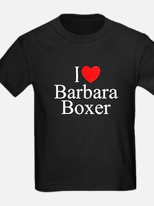 """I Love (Heart) Barbara Boxer"" T"