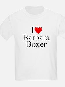 """I Love (Heart) Barbara Boxer"" T-Shirt"