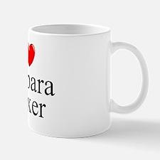 """I Love (Heart) Barbara Boxer"" Mug"