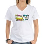 What Would Jesus Do Women's V-Neck T-Shirt