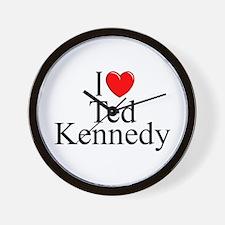 """I Love (Heart) Ted Kennedy"" Wall Clock"