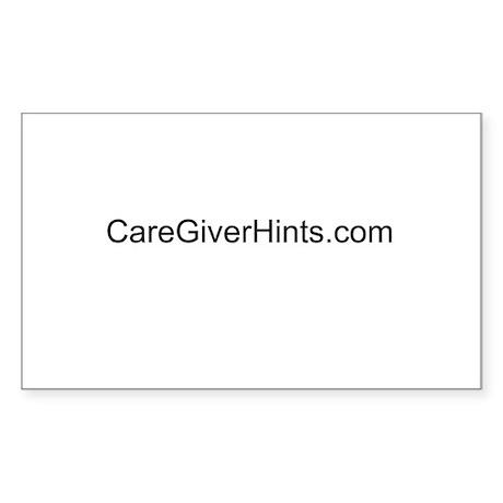 www.CareGiverHints.com Rectangle Sticker