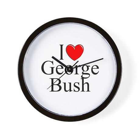"""I Love (Heart) George Bush"" Wall Clock"