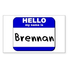 hello my name is brennan Rectangle Decal