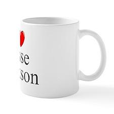 """""""I Love (Heart) Jesse Jackson"""" Mug"""