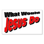 What Would Jesus Do Rectangle Sticker