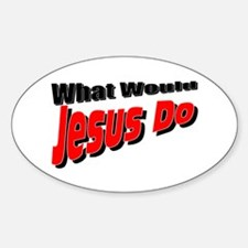 What Would Jesus Do Oval Decal