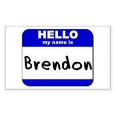 hello my name is brendon Rectangle Decal